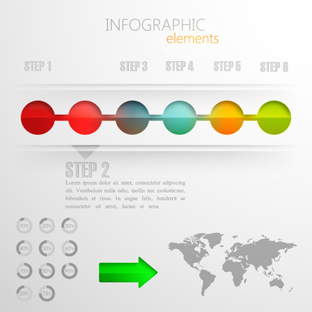 design layout of abstract 3d paper info graphic elements for print or web design  timeline template
