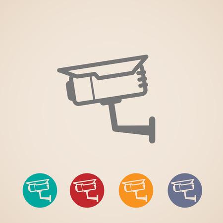camera icon: set of CCTV icons Illustration