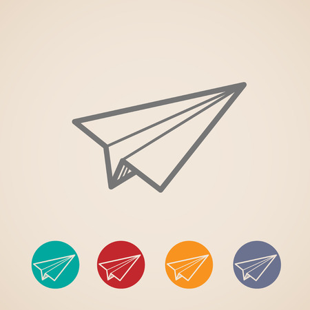 paper plane: set of paper plane icons