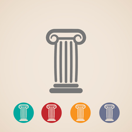 set of ancient column icons Vector