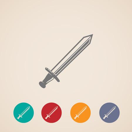 swordsmanship: set of sword icons