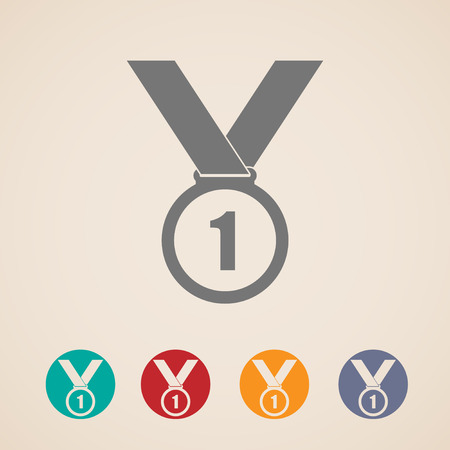 set of medal icons Vector