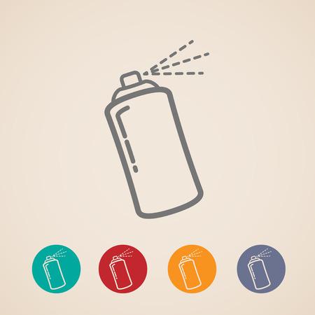 ensemble de Aérosol icônes Illustration