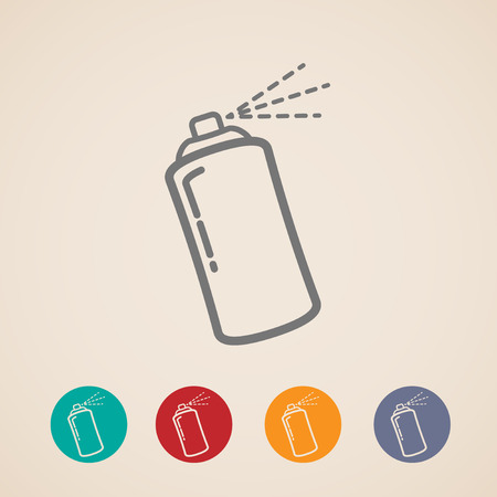 paint can: set of aerosol spray can icons