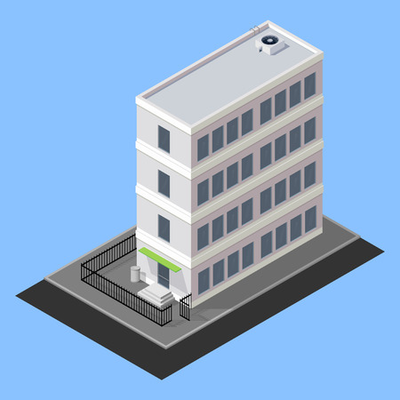 vector isometric building Vector