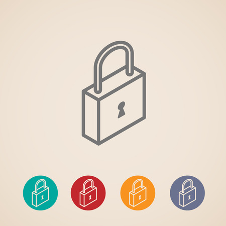 padlock icon: isometric vector lock icons