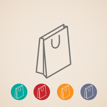e retailers: isometric shopping bag vector icons