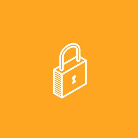 code lock: isometric vector lock icon