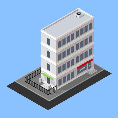 brick road: vector isometric building
