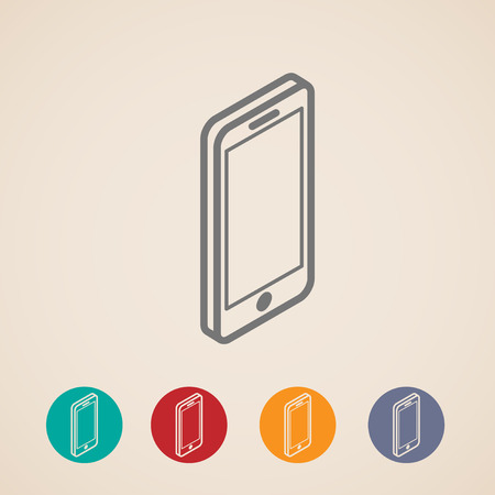 isometric vector mobile phone icons Vector