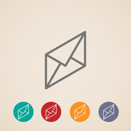 unread: isometric vector icon of mail
