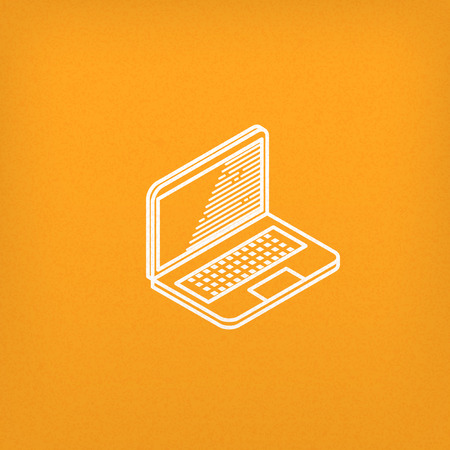 laptop vector: isometric vector icon of laptop