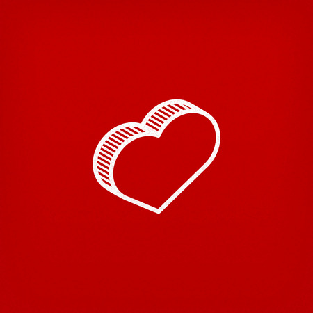 isometric vector icon with heart sign Vector