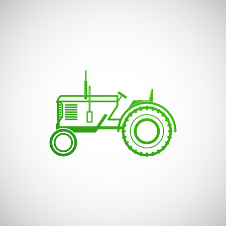 vector illustration with tractor  farm concept Vector