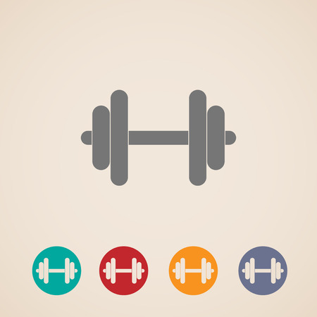 dumbell: vector set of dumbbell icons
