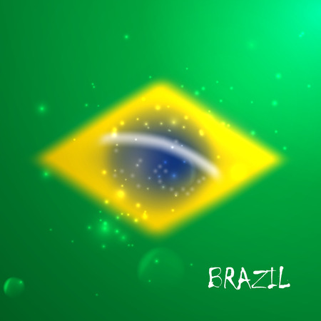 vector blurred background with sparkles in brazil flag concept for design and website background  Vector