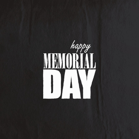 peace day: holiday background with old crumpled black paper texture  Happy memorial day