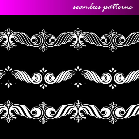 set of seamless ornamental lace patterns Vector