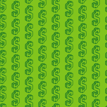 purchasing power: abstract seamless pattern with isometric dollar signs Illustration