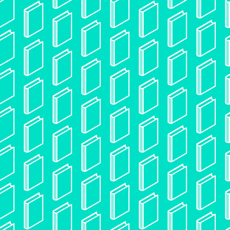 videobook: abstract seamless pattern with isometric book signs