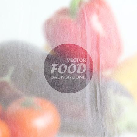 realistyczne tło żywności z różnych warzyw