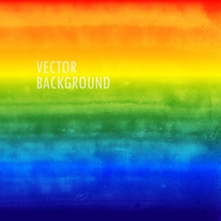 boda gay: arco iris de fondo de la acuarela. textura tinta cepillado. Resumen de antecedentes para su diseño Vectores