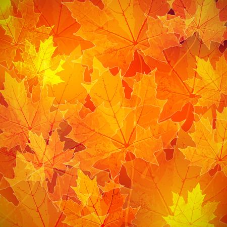 цветочный осень (осень) фон с кленовыми листьями Иллюстрация