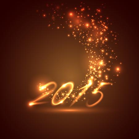 nouvel an: bonne ann�e 2015. vacances fond Illustration