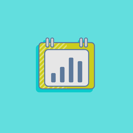 vector chart icon in flat design style. infographic sign Vector