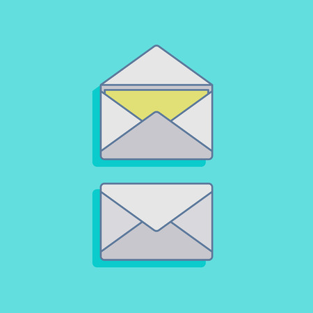 chatbox: vector illustration with mails in flat style design Illustration