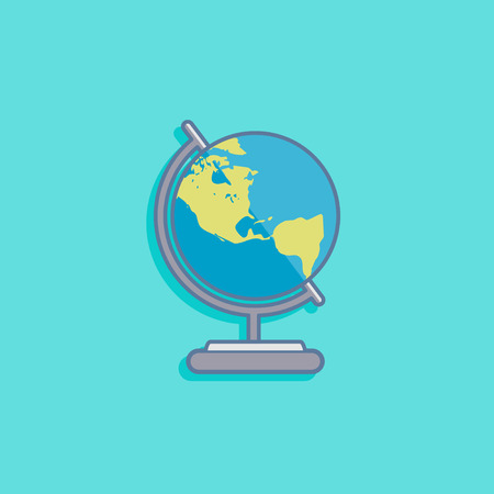 vector illustration with earth globe in flat style design Vector