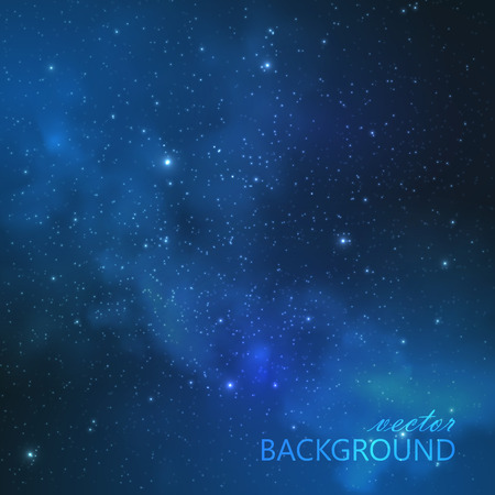 abstract vector background with night sky and stars. illustration of outer space and Milky Way Vector