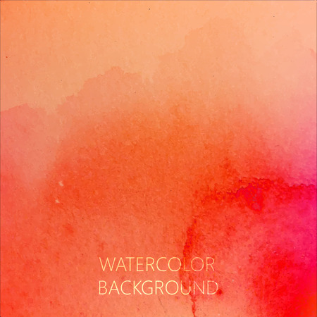 vector abstract bright orange watercolor background for your design