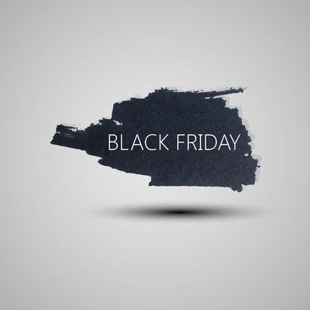 Splash grunge watercolor background. Black friday promotional banner for your design Vector