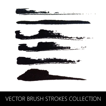 vector collection of brush strokes Ilustracja
