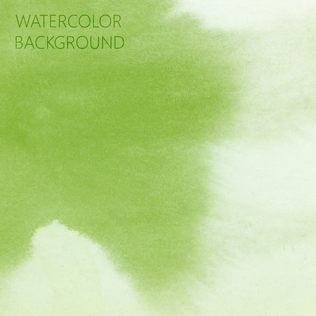 vector abstract green (lime) watercolor background for your design Illustration