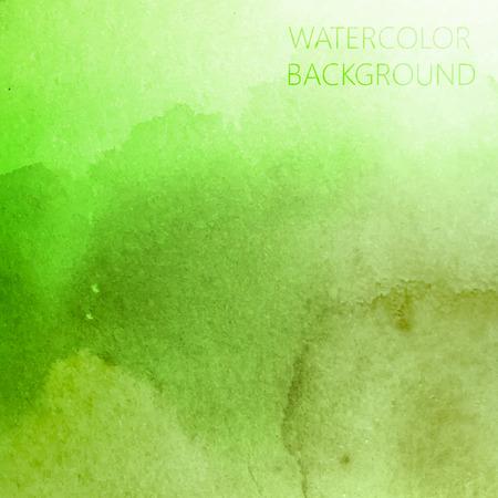 디자인을위한 벡터 추상 녹색 수채화 배경