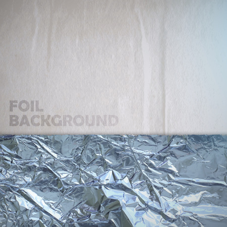 abstract vector paper background with silver crumpled foil Vector