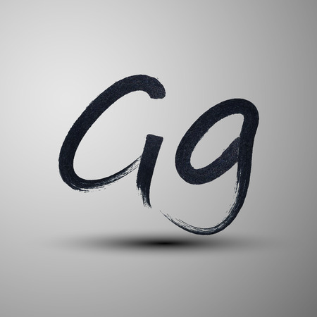 vector calligraphic hand-drawn marker or ink letter G