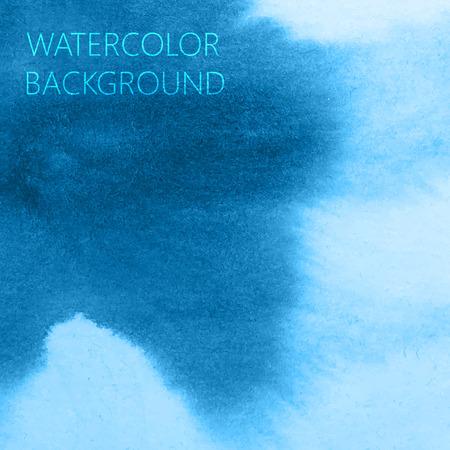 ベクトル抽象的な水彩画の背景の青デザイン  イラスト・ベクター素材