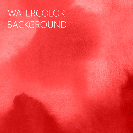 vermeil: vector abstract scarlet  (red) watercolor background for your design