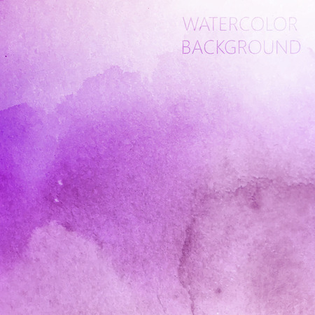 vector abstract purple watercolor background for your design