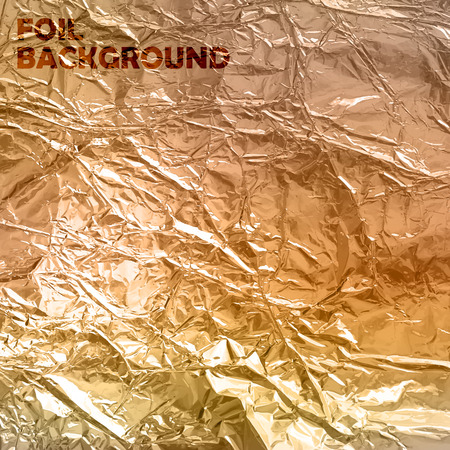 aluminum foil: abstract vector background with golden foil texture