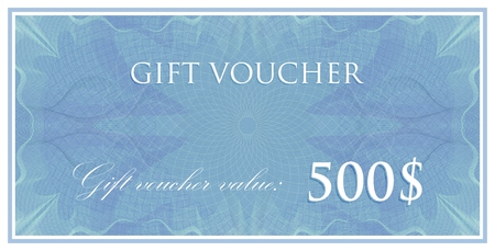 vector template design of gift voucher or certificate with guilloche pattern (watermarks). also can be used for banknote design and other financial documents Illustration