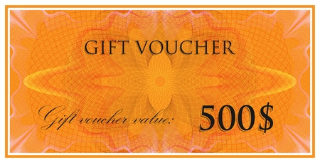 watermarks: vector template design of gift voucher or certificate with guilloche pattern (watermarks). also can be used for banknote design and other financial blanks
