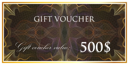 blanks: vector template design of gift voucher or certificate with guilloche pattern (watermarks). also can be used for banknote design and other financial blanks