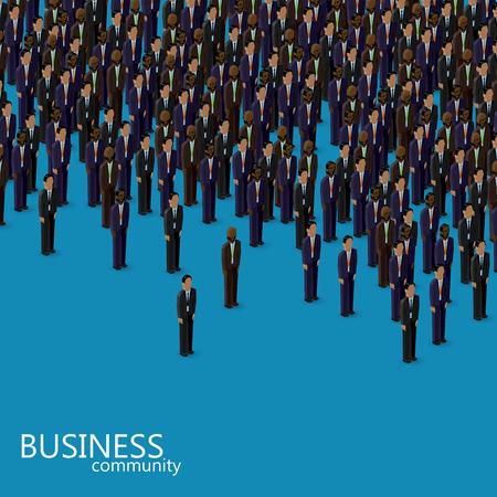 m�nner business: vector isometrische 3D-Darstellung von Wirtschaft oder Politik Community. eine Menge von M�nnern (Gesch�ftsleute oder Politiker) tr�gt Anzug und Krawatte.