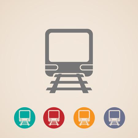 subway train: vector icon of train. metro, underground or subway train. rapid transit sign. transportation concept