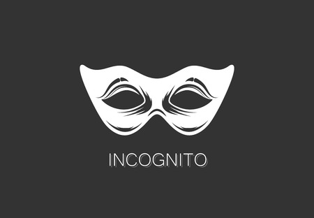 vector illustration of carnival mask icon. anonymous person concept. template design Vector