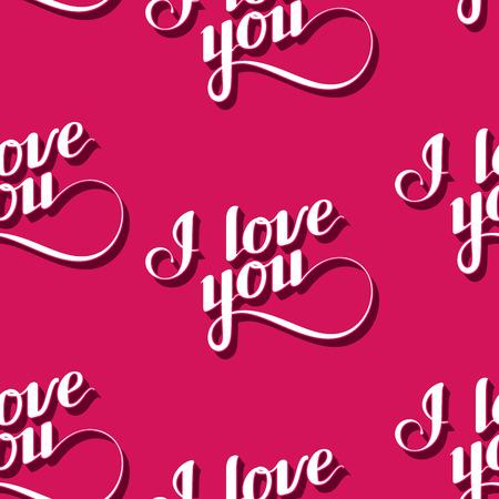 te amo: vector sin patr�n de escrito a mano te amo etiquetas retro.